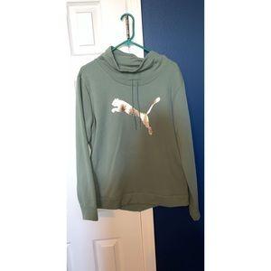 Green Puma Sweatshirt